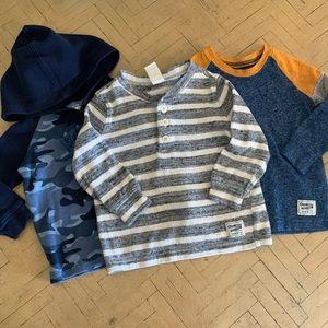 OshKosh B'Gosh Long Sleeve Shirt Bundle 18M Boy